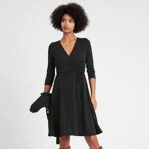 Splendid Navy Faux Wrap Dress